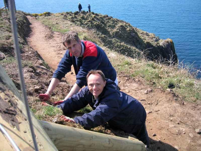 Fixing The Coastal Path - Stumblehead - April 2010