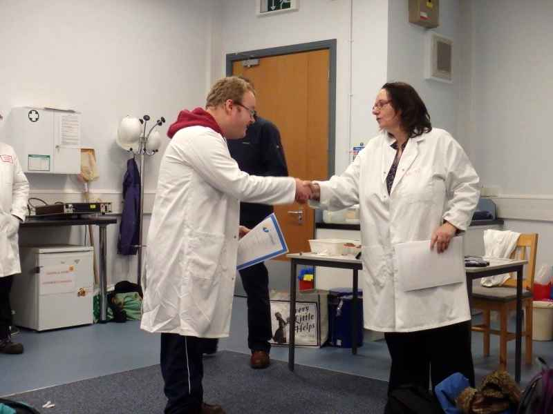 05-02-2016 - Bioluminescence workshop at the Darwin Centre Pembrokeshire College