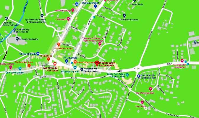 Fairfield St Davids Map