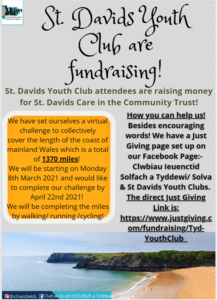 St Davids Youth Club are fundraising - April 2021